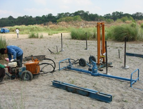 cone penetration test setup