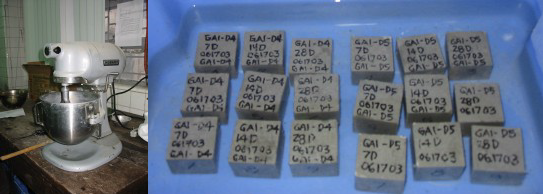 mortar cube specimens compression